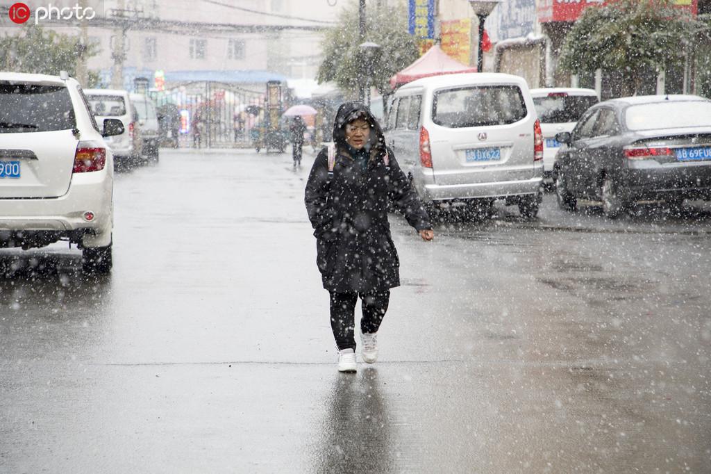 吉林最低气温零下3°C 降下今冬首场大雪2.jpg
