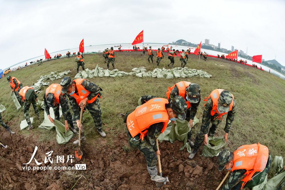 湖北省組織防汛搶險綜合演練