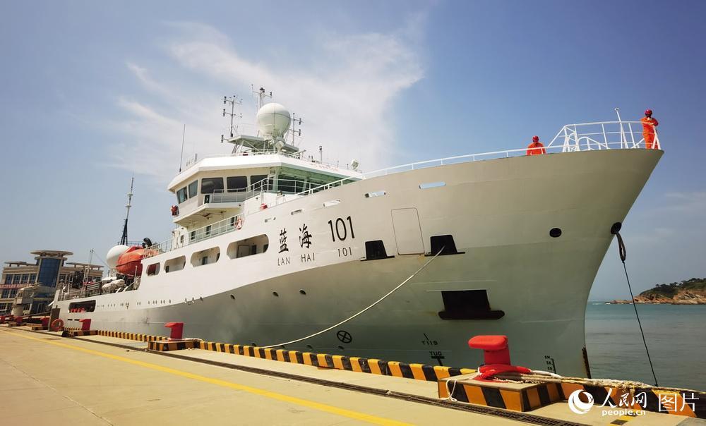 """""""藍海101""""號科考船完成科考任務返回青島"""
