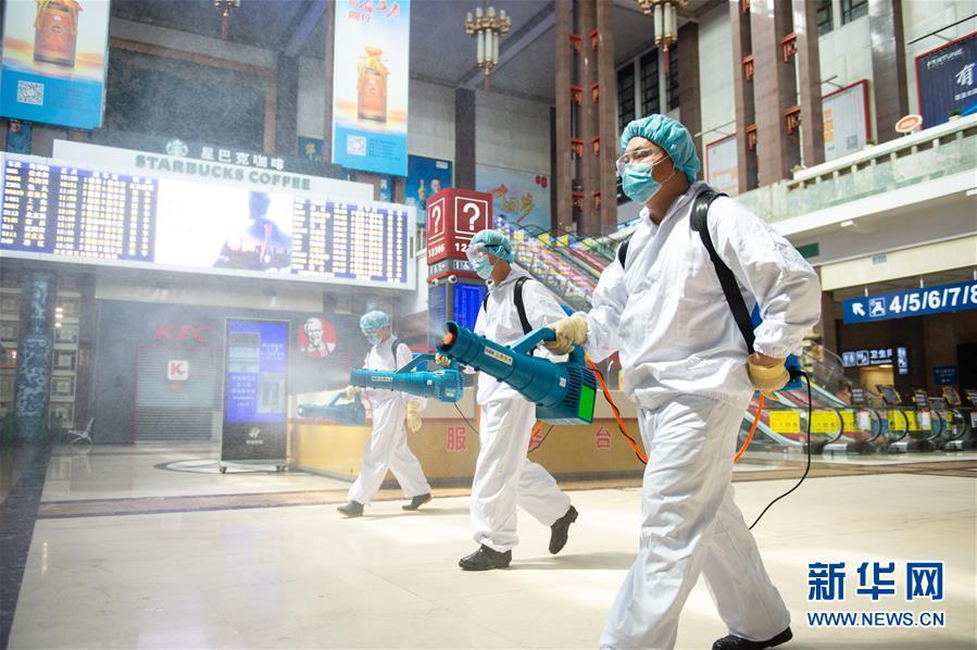 (聚焦疫情防控)(1)北京:加強北京站疫情防控