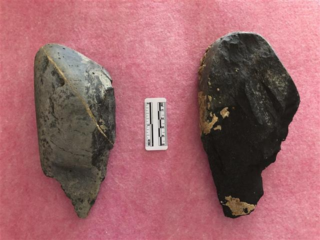 龙湾岭旧石器遗址点新出土的两件手斧